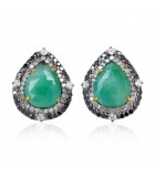 Emerald Pear-shaped Studs III