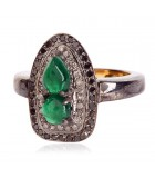 Emerald Pinkie ring