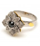 Vintage -style Screw-top Diamond Ring II