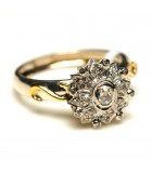 Vintage -style Screw-top Diamond Ring III