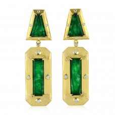Jade Art Decor Earrings