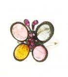 Pink Flutter RIng